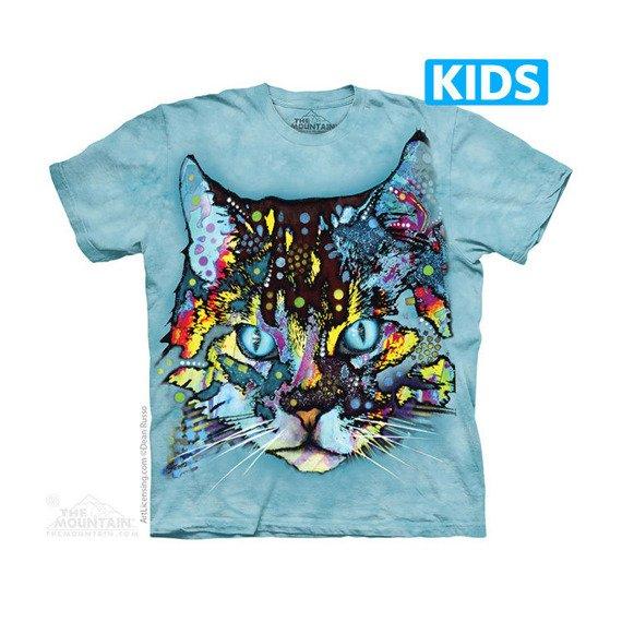 koszulka dziecięca THE MOUNTAIN - HYPNO CAT, barwiona