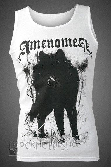 koszulka na ramiączkach AMENOMEN - SNOW WOLF (OMEN037KR WHITE)