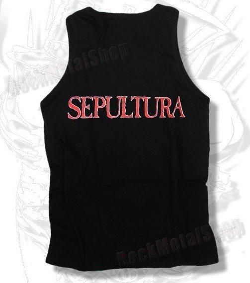 koszulka na ramiączkach SEPULTURA - RED / WHITE LOGO