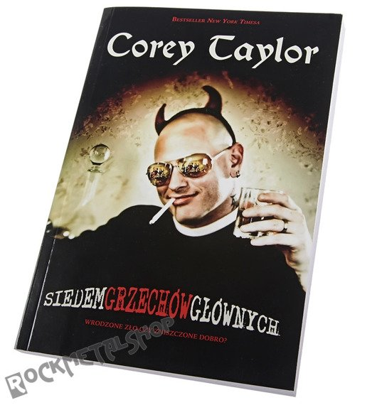 książka COREY TAYLOR - SIEDEM GRZECHÓW GŁÓWNYCH