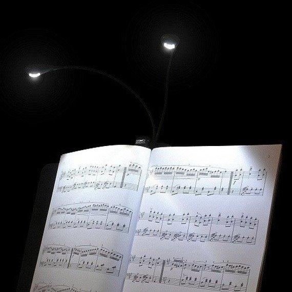 lampka GLEAM LED z klipsem - do czytania, do nut