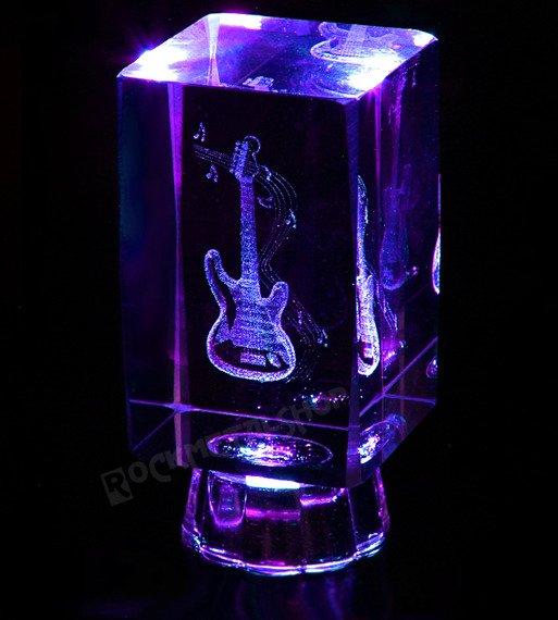 lampka / figurka podświetlana GITARA z kryształu