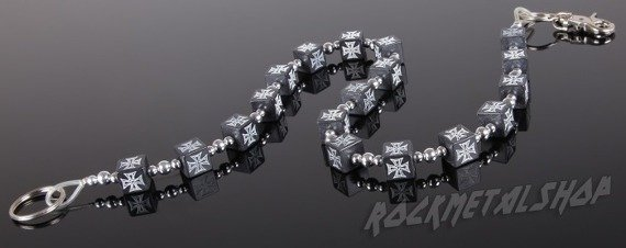łańcuch do kluczy/portfela CROSS BLACK