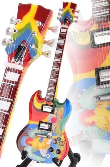 miniaturka gitary ERIC CLAPTON - CREAM: FOOL / PSYCHEDELIC SG STYLE (MP49)