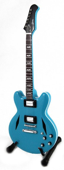 miniaturka gitary FOO FIGHTERS - DAVE GROHL: DG-335 BLUE