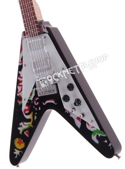 miniaturka gitary JIMI HENDRIX: GIBSON PSYCHEDELIC FLY V