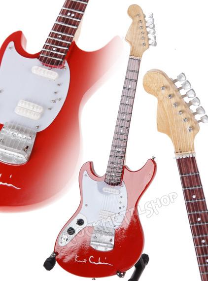 miniaturka gitary NIRVANA - KURT COBAIN SIGNATURE: MUSTANG RED