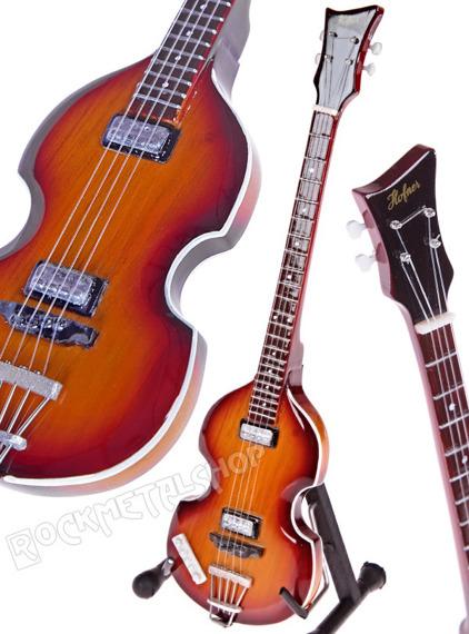 miniaturka gitary THE BEATLES - PAUL MCCARTNEY: HOFNER '66 VIOLIN BASS