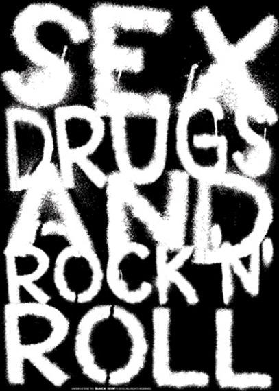 naklejka BLACK ICON - SEX, DRUGS...
