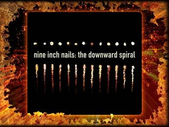 naklejka NINE INCH NAILS - THE DOWNWARD SPIRAL