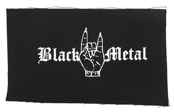 naszywka BLACK METAL - MANO CORNUTA