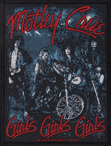 naszywka MOTLEY CRUE - BAND / GIRLS
