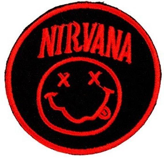 naszywka NIRVANA - SMILE RED