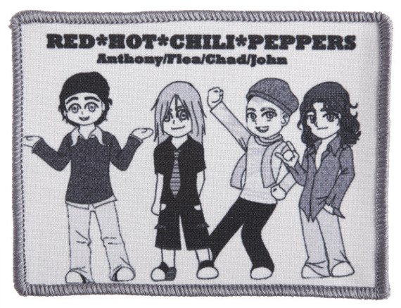 naszywka RED HOT CHILI PEPPERS -  ANTHONY, FLEA, CHAD, JOHN