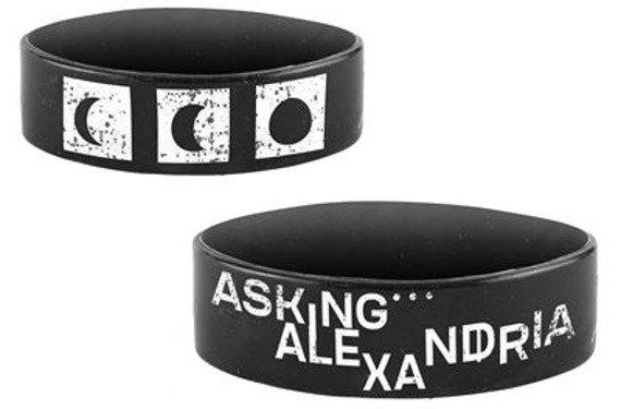 opaska ASKING ALEXANDRIA - THE BLACK, silikonowa