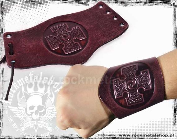 opaska na rękę wiązana 90mm CROSS red