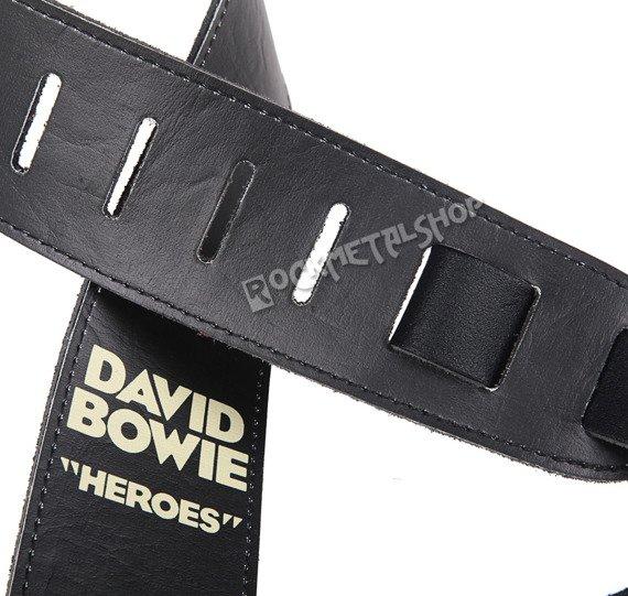 pas do gitary DAVID BOWIE - HEROES skórzany, 63mm
