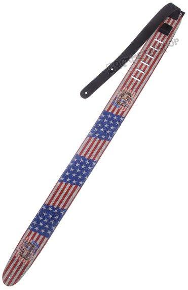 pas do gitary GUNS N'ROSES - US FLAG skórzany, 63mm