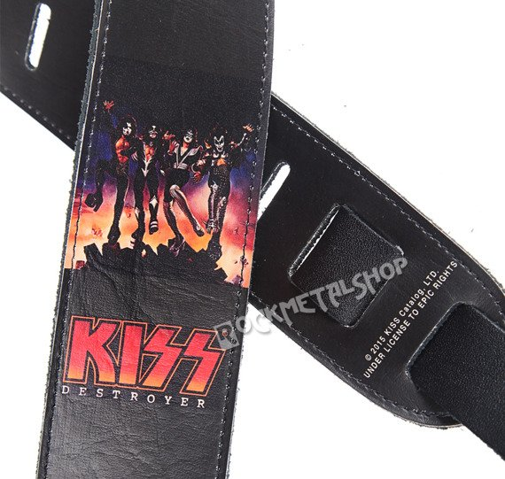 pas do gitary KISS - DESTROYER skórzany, 63mm
