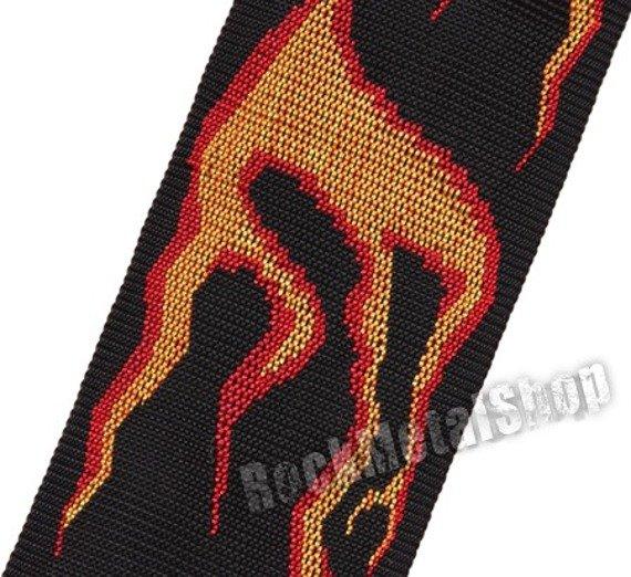 pas do gitary PLANET WAVES - FLUID FLAMES straplock (50PLA01)