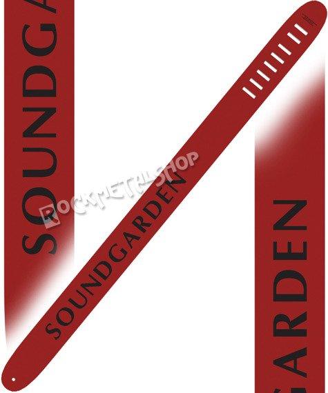 pas do gitary SOUNDGARDEN - RED skórzany, 63mm