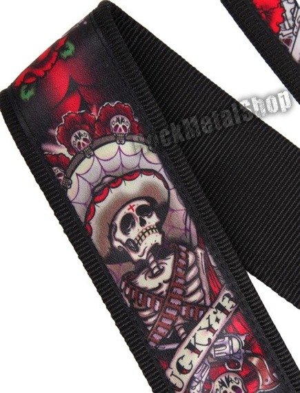 pasek gitarowy DUNLOP LUCKY 13 - DAY OF THE DEAD (D38-21LD)