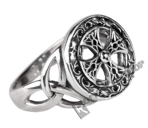 pierścień CELTIC CROSS, srebro 925