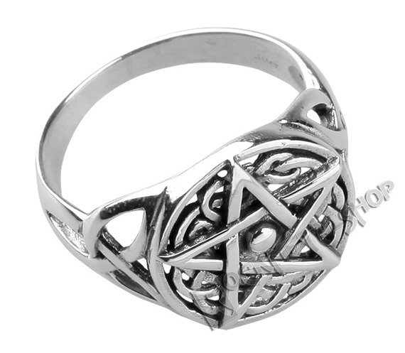 pierścień CELTIC PENTAGRAM, srebro 925