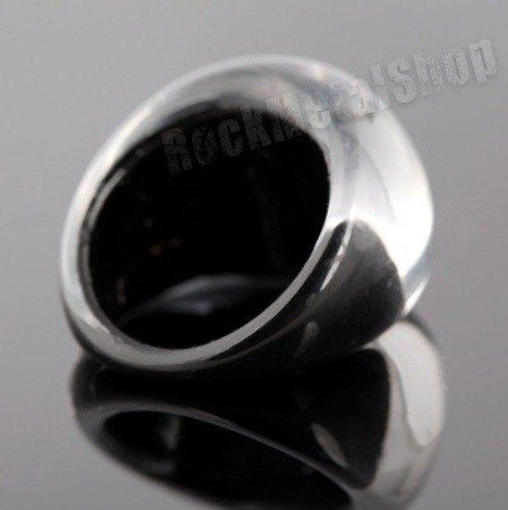 pierścień FLORAL czarny