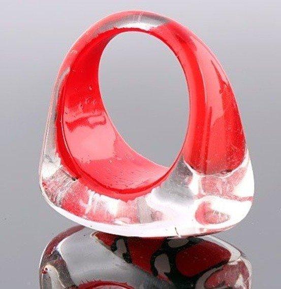 pierścień PATTERN czerwony