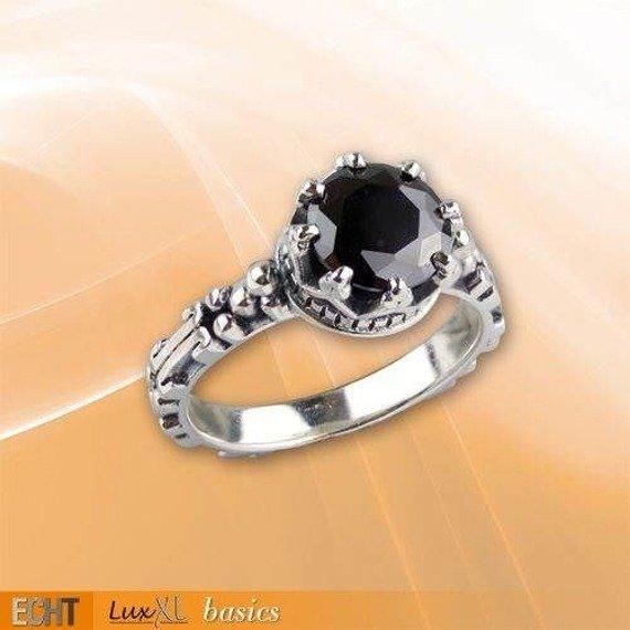 pierścionek GARNET CROWN, srebro 925