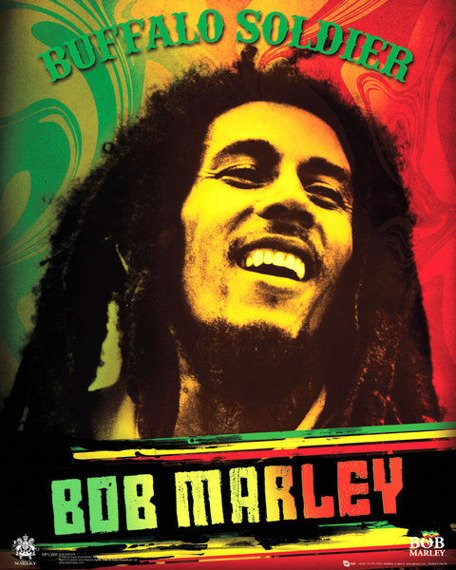 plakat BOB MARLEY - BUFFALO SOLDIER