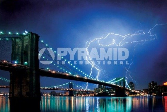 plakat BROOKLYN BRIDGE - LIGHTNING