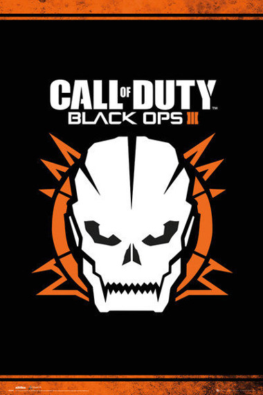 plakat CALL OF DUTY BLACK OPS 3 - SKULL