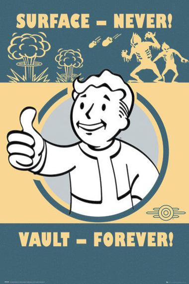 plakat FALLOUT 4 - VAULT FOREVER