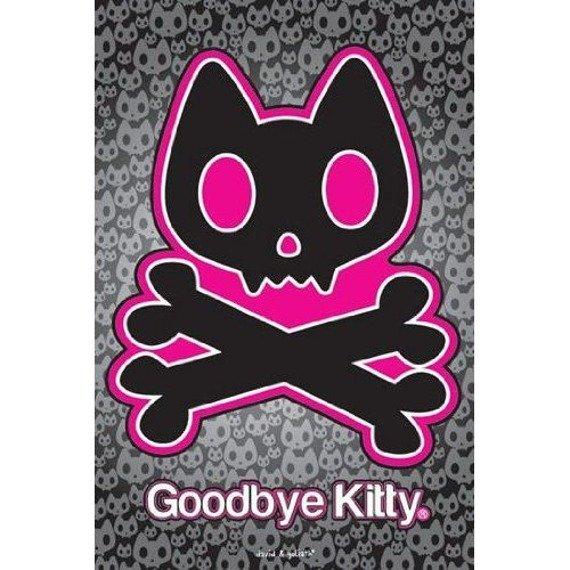 plakat GOODBYE KITTY - SKULL & CROSSBONES