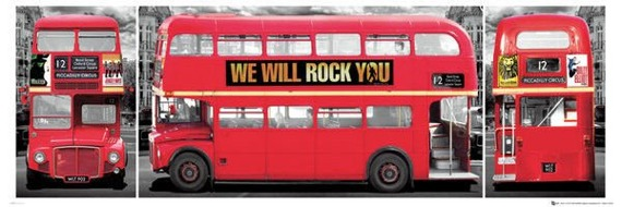plakat LONDON - BUS TRIPTYCH