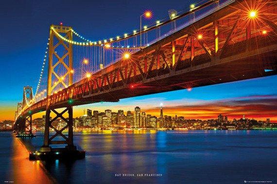 plakat SAN FRANCISCO - BAY BRIDGE