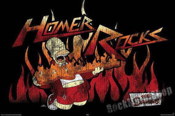 plakat SIMPSONS - HOMER ROCKS