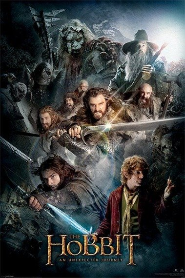 plakat THE HOBBIT - DARK MONTAGE