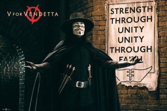 plakat V FOR VENDETTA - UNITY