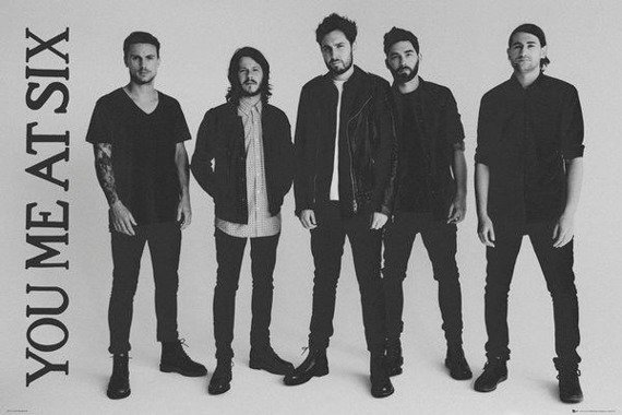 plakat YOU ME AT SIX - BAND