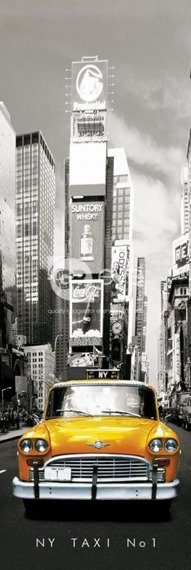 plakat na drzwi NEW YORK - TAXI NO 1