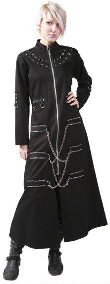 płaszcz damski DEAD THREADS (BLACK)