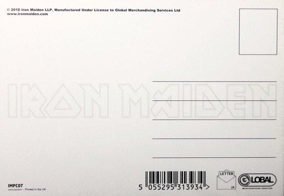 pocztówka IRON MAIDEN - SOMEWHERE BACK IN TIME