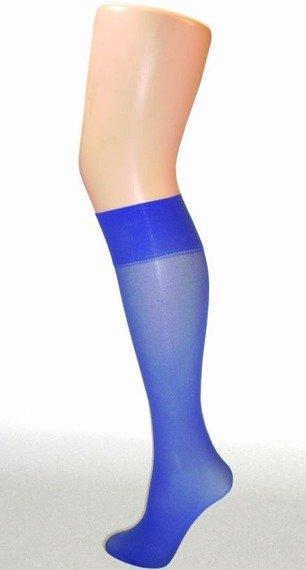 podkolanówki niebieskie 40 den 100% nylon