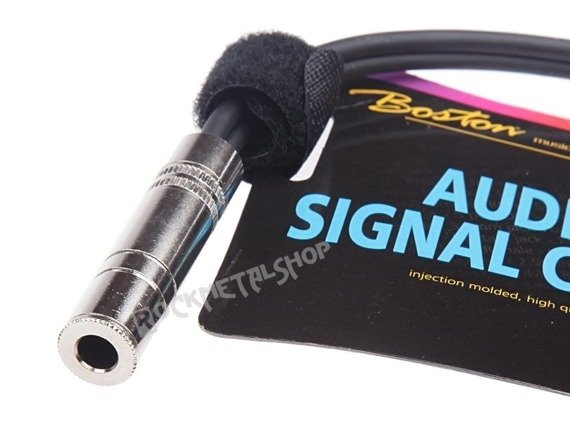 przewód audio BOSTON: 2x DUŻY JACK MONO (6.3mm) - gniazdo JACK STEREO (6.3mm) / 1,5m