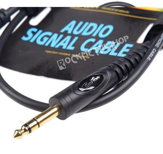 przewód audio BOSTON: XLR żeński -  DUŻY JACK STEREO (6.3mm) / 9m