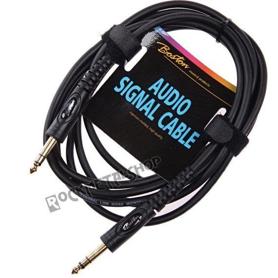 przewód audio BOSTON: duży JACK/JACK STEREO (6.3mm)  / 1,5m