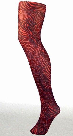 rajstopy BABY ZEBRA kolor czerwony